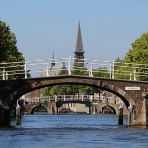 Picture of Church steeple, bridge with river