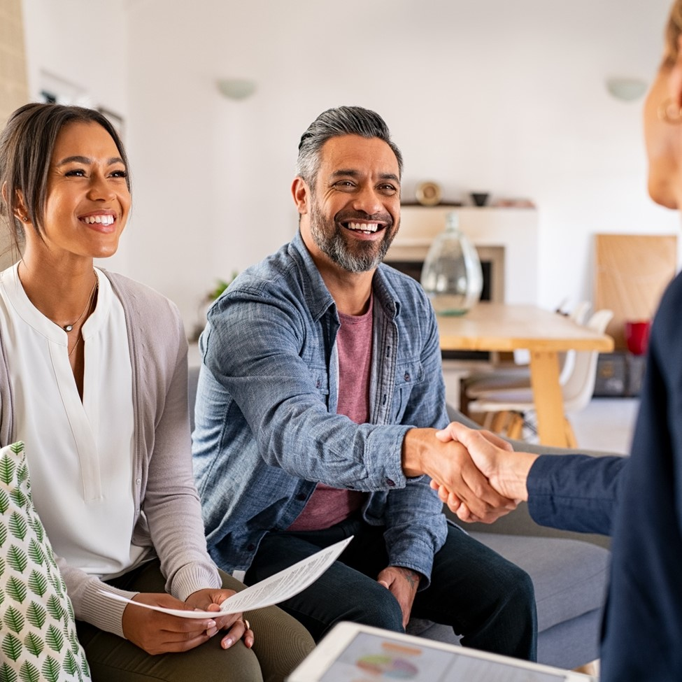 Picture of family laughing