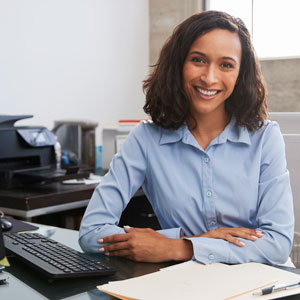 Picture of woman working at computer
