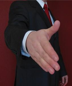 hand ready to shake