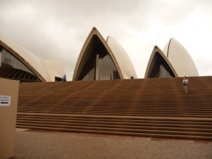 An unusual view of the Sydney Opera Hoiuse