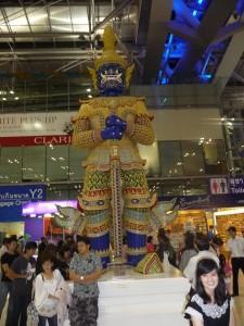 A god at the Bangkok airport