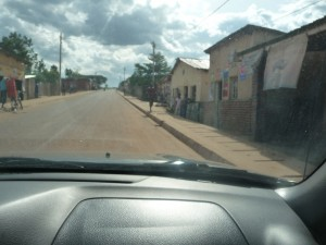 road with curbs in Kigali