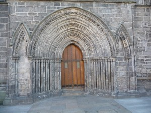 Main door of the abbey church