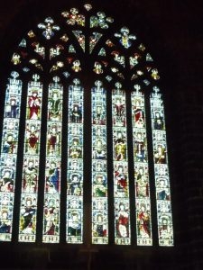 The front window of the abbey church