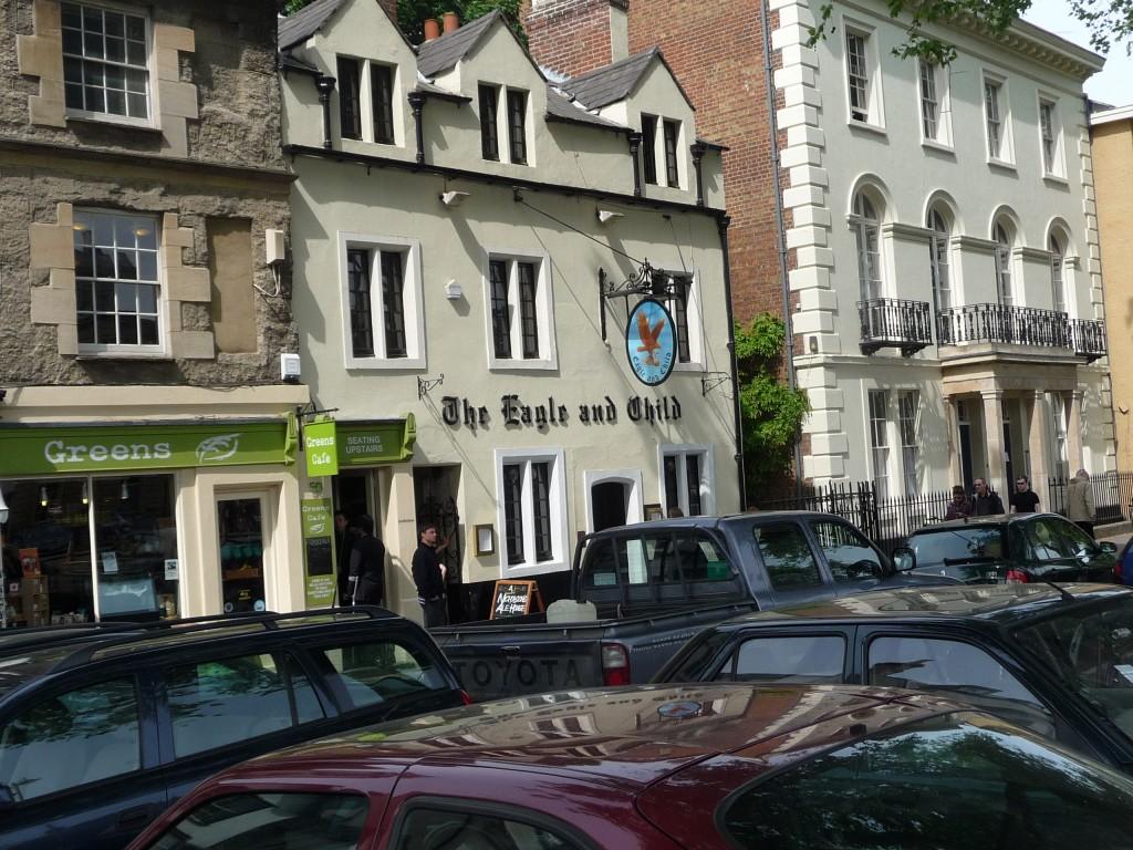 Exterior of The Eagle & Child pub