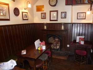 Interior of The Eagle and Child pub
