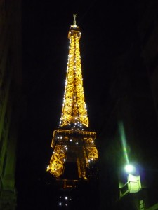 Night view of the Eiffel Tower