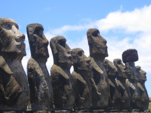 Heads on Easter Island