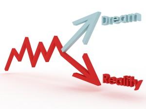 Graph of actual vs dream