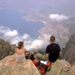 Couple on a mountain top