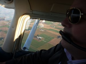 John in a small plane