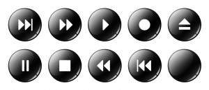 Control buttons on a media player