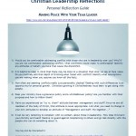 Download personal reflection guide