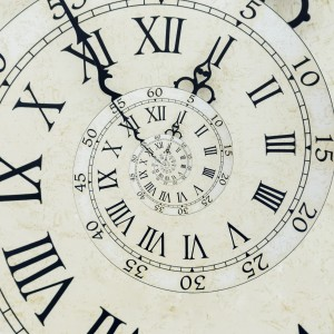 Antique spiral clock face
