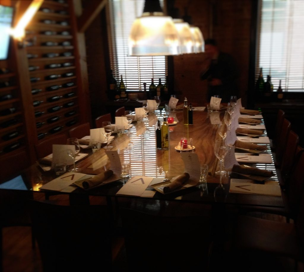 Photo of a table set for an elegant dinner.
