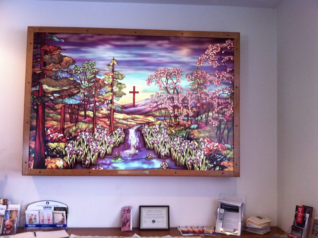 Photo of a stained glass picture
