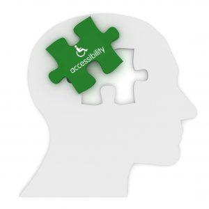 Accessibility head puzzle concept