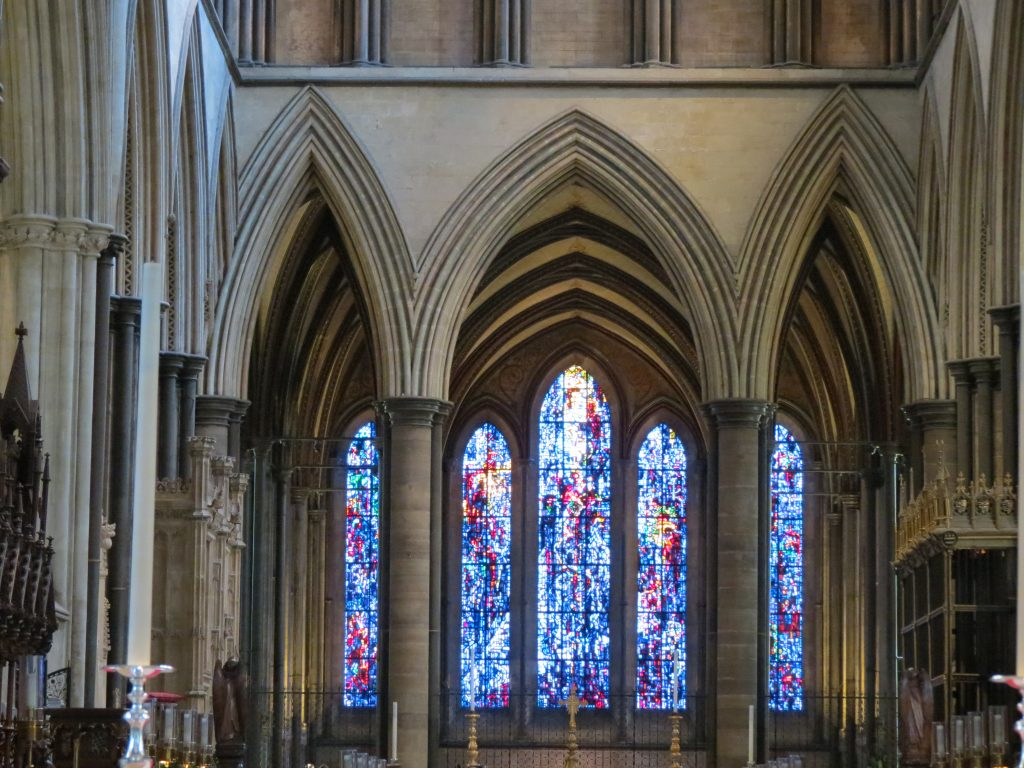 Photo of the front window at Salisbury Cathedral