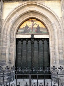Picture of church doors